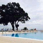 By pool!