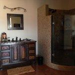 Casita Boca's copper sink and shower