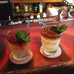 Two Mai Tais, ready to stir and enjoy at the bar!