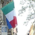 The Italian flag on the former Hungarian Parliament (now Istituto Italiano)