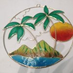 Hawaiian floral Suncatcher made from shell!