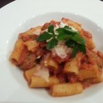 rigatoni and meatballs (I was assured they were home made)