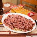 spaghetti smoked meat