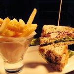 Classic Club Sandwich, Fries & Celeriac Slaw! Yummy!