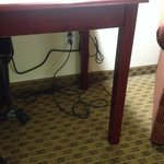Electrical cords all over the place