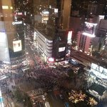 View from the hotel window (Shibuya Crsossing)