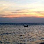 Enjoying the sunset at Manta