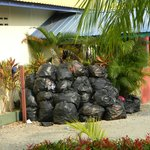 Bags of rubbish not cleared away