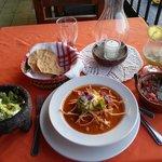 Fresh salsa, fresh guacamole, & tortilla soup