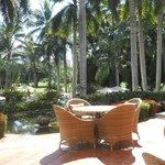 Sitting area above Resort Pool