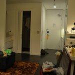 entrance, shower & toilet room, kitchen, living room