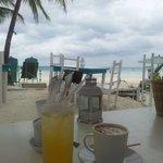 Kalamansi Juice & a Cappucinno