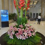 Hotel Entry Flower Decoration