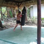 thai kickboxing in the garden