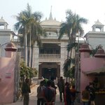 Devotees entering inside temple from main gate.