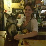 Bojangles the Donkey that frequents the pub