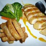 Chicken Cordon Blue with Orange Sauce