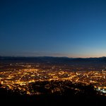 View of Oviedo from Monte Naranco at night