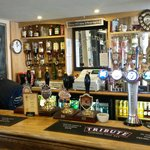 Well stocked bar for this busy pub