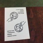 Cartello anti borseggiatori