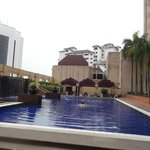 At the poolside..