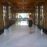 Walking through the Reception Lobby