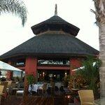 El restaurante y la terraza