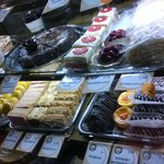 The selection of sweets....