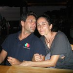 Captain Ilan and first mate Shani at Basil's on Mustique