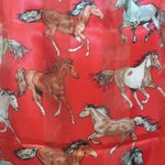 """Silk scarf with """"horses"""" of course."""