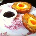 warm scotch egg - very good