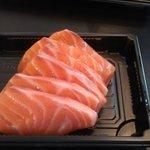 Salmon sashimi, delicious!