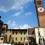 The tower from piazza delle Erbe