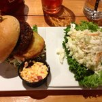 Low Country Burger with Cole Slaw