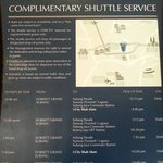 Complimentary shuttle bus service.