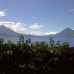 Lake Atitlan view from the garden area outside our room.