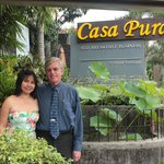 The two of us in front of Casa Pura prior to our wedding ceremony.