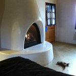 Gas Kiva In Room - Radiates Heat Nicely