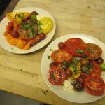 Betsey's Heirloom Tomato Plate -- Homegrown.