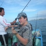 fishing off the coast at Quepos