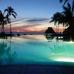 The Sunset over the infinity pool.