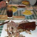 Pulled pork, chicken and ribs