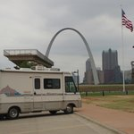 the arch viewing platform and our RV