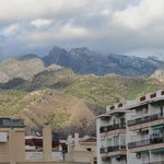 view of mountains from balcony