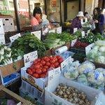 Fresh Produce out on the sidewalk