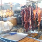 Hanging meat in a buffet restuarant