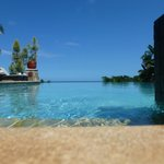 Infinity pool at the lodge.