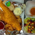 10 oz. Beer Battered Haddock Dinner