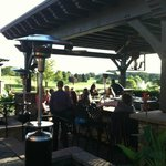 View of the outdoor patio at the pub