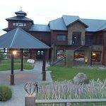 Vista do restaurante do hotel